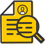 paper magnifying glass icon